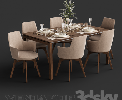 Venjakob Alexia Chair with Dining Table ET388_media__slider